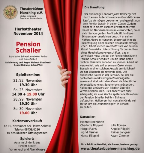 Theater Herbst Flyer DIN lang